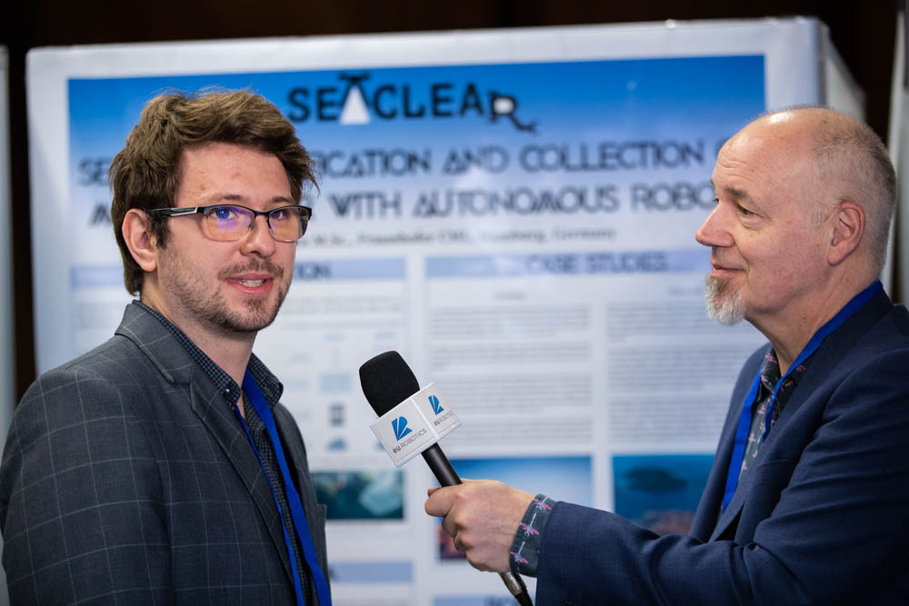 Cosmin Delea being interviewed at ERF2020